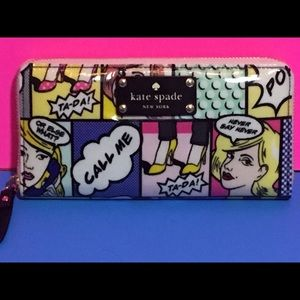 Kate Spade Daycation Neda Pop Art Wallet NWT